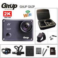 Caméra d'action deportiva Original GitUp Git2P Novatek 96660 télécommande Ultra HD 2 K WiFi 1080 P 60fps go caméra étanche pro Git2 P