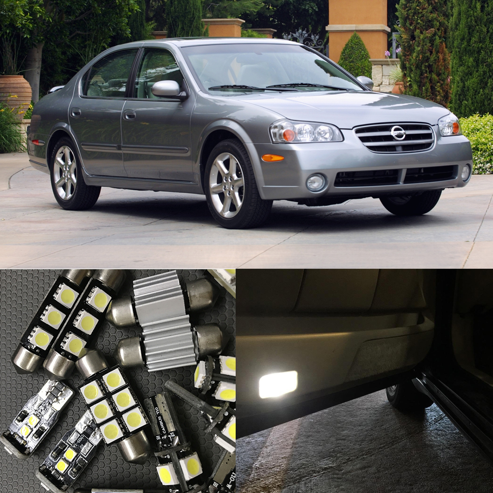 Popular nissan maxima 2000 buy cheap nissan maxima 2000 lots from 13pcs white car led light bulbs interior package kit for 2000 2003 nissan maxima map vanachro Image collections