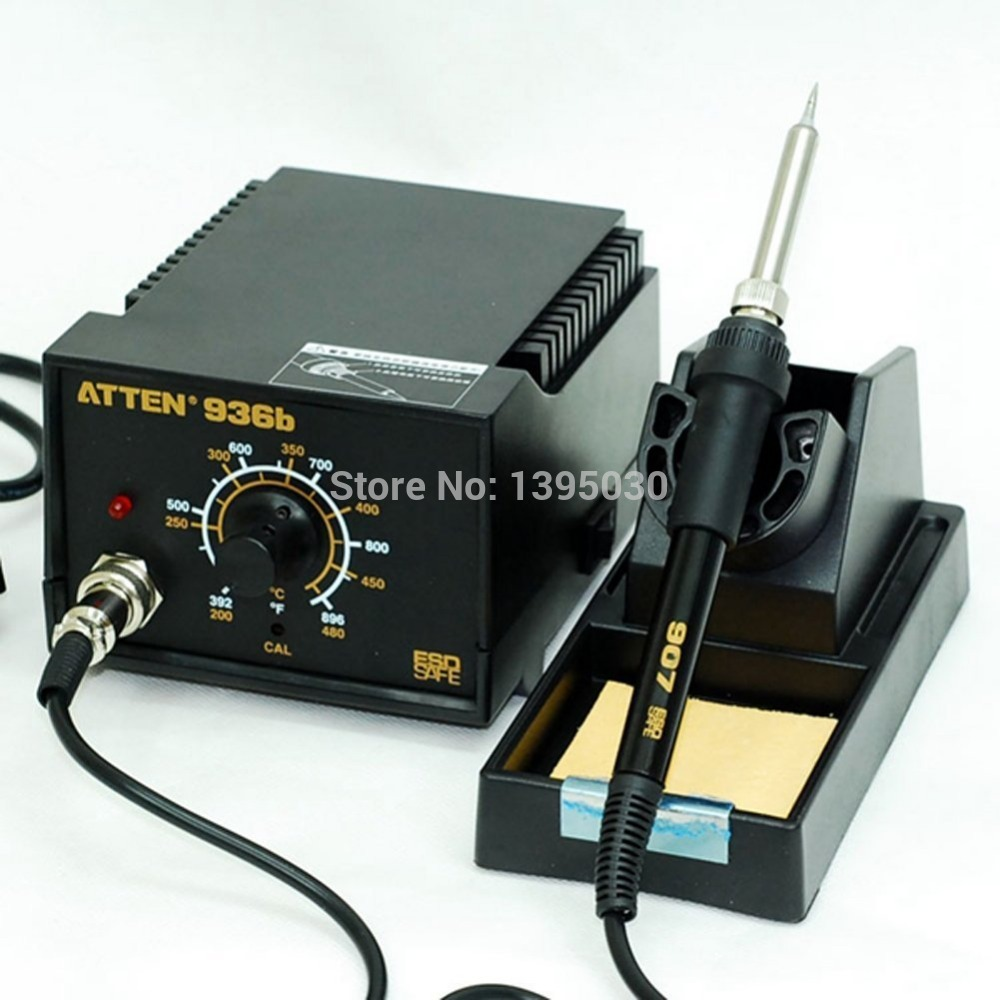 1PC ATTEN AT936b Heater Soldering Iron AT-936b Welding Solder Station 50Hz 50W (200'C~480'C) original quality goods 50w atten at936b soldering station solder iron at 936b welding station for bga welding accessory