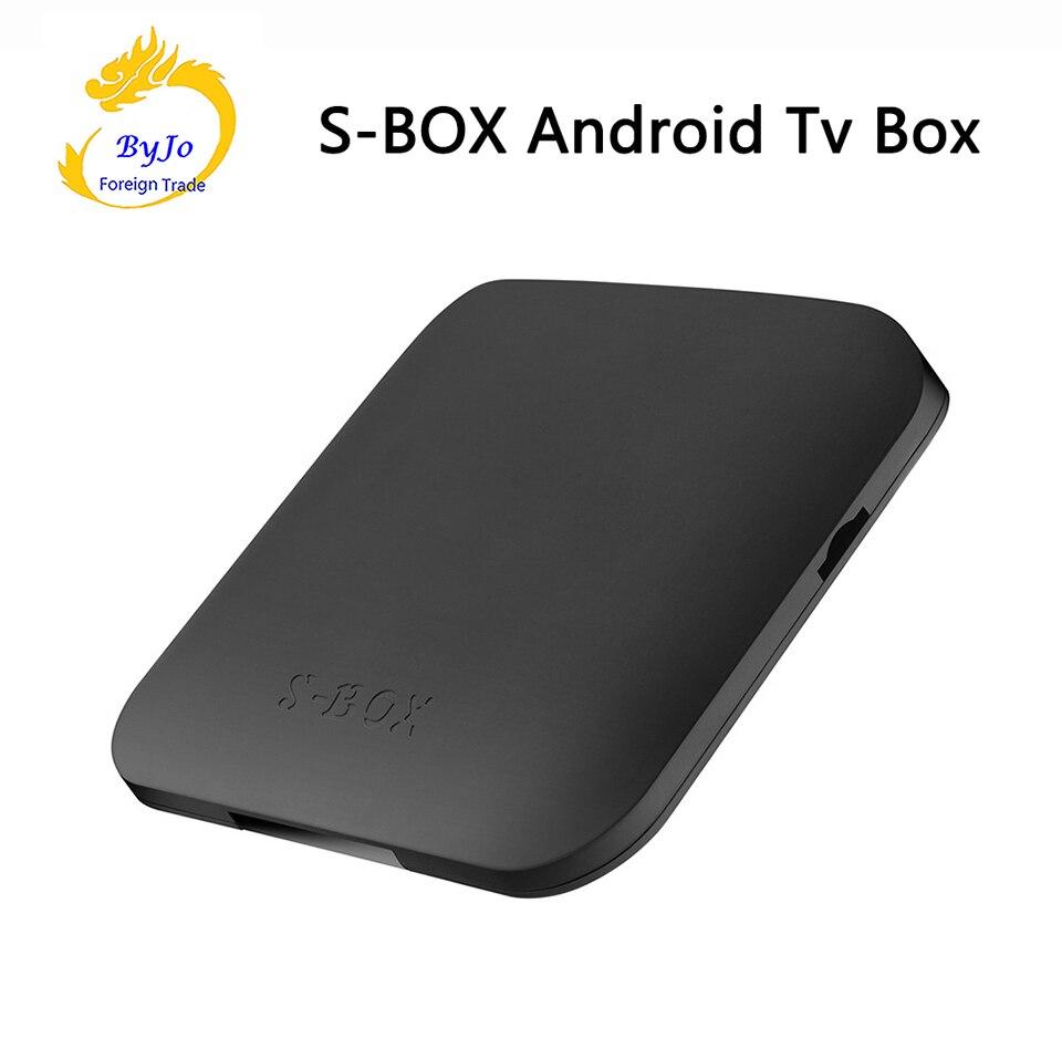 S-box android ТВ коробка Android 6.0 Amlogic s905x 4 ядра 2 ГБ Оперативная память 16 г Встроенная память WI-FI <font><b>Bluetooth</b></font> 4.0 медиаплеер ТВ приемник
