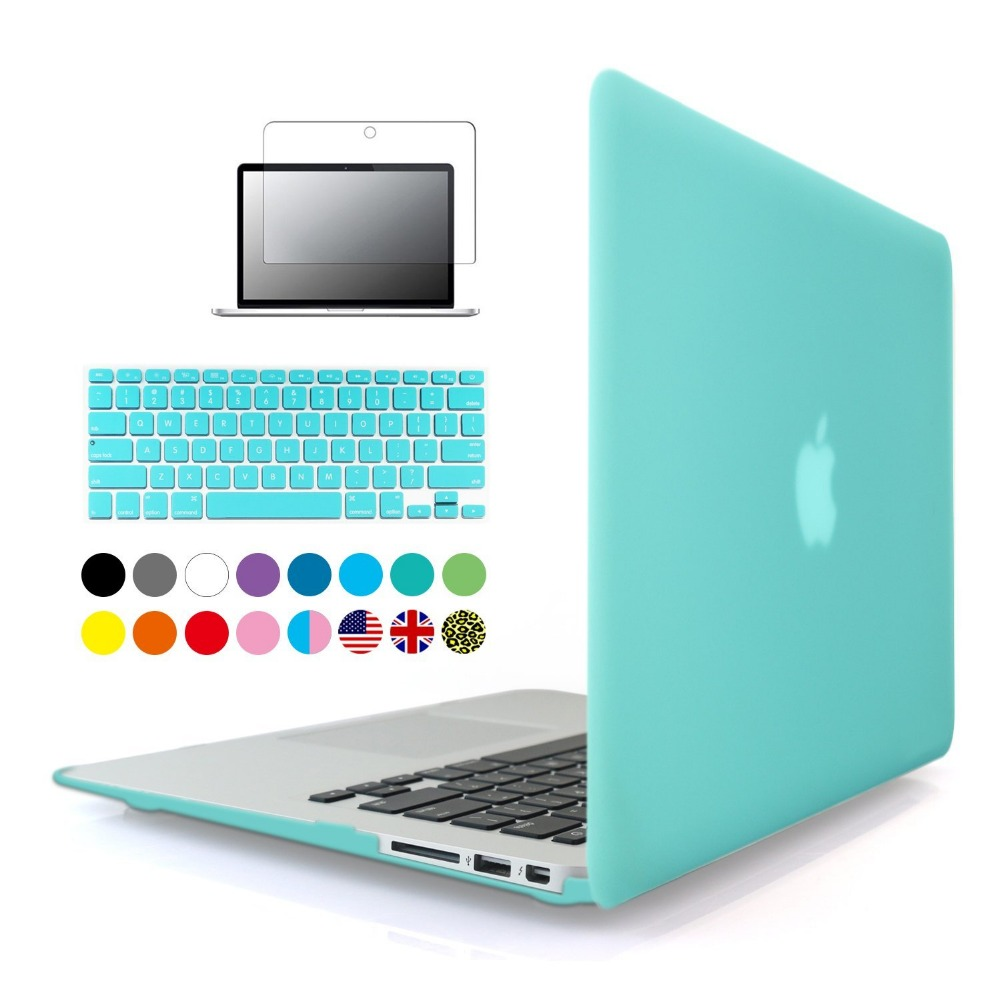 Laptop Case For Apple MacBook Air Pro Retina 11 12 13 15 Matte Hard Cover Laptop Sleeve Bag For MacBook Air 13 Case keyboard for macbook 2016 brand hot selling grey laptop case 11 6 solid waterproof nylon laptop bag 11 6 free gift keyboard cover