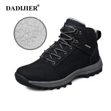 DADIJIER New Hot Winter Shoes Men Plus size 39-47 Waterproof Men Sneaker Army High quality Pu Leather Boots Warm Footwear ZLL158