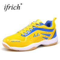Professional Table Tennis Shoes Men Badminton Shoes Leather Indoor Court Shoes Breathable Training Sneakers Brand Trainers