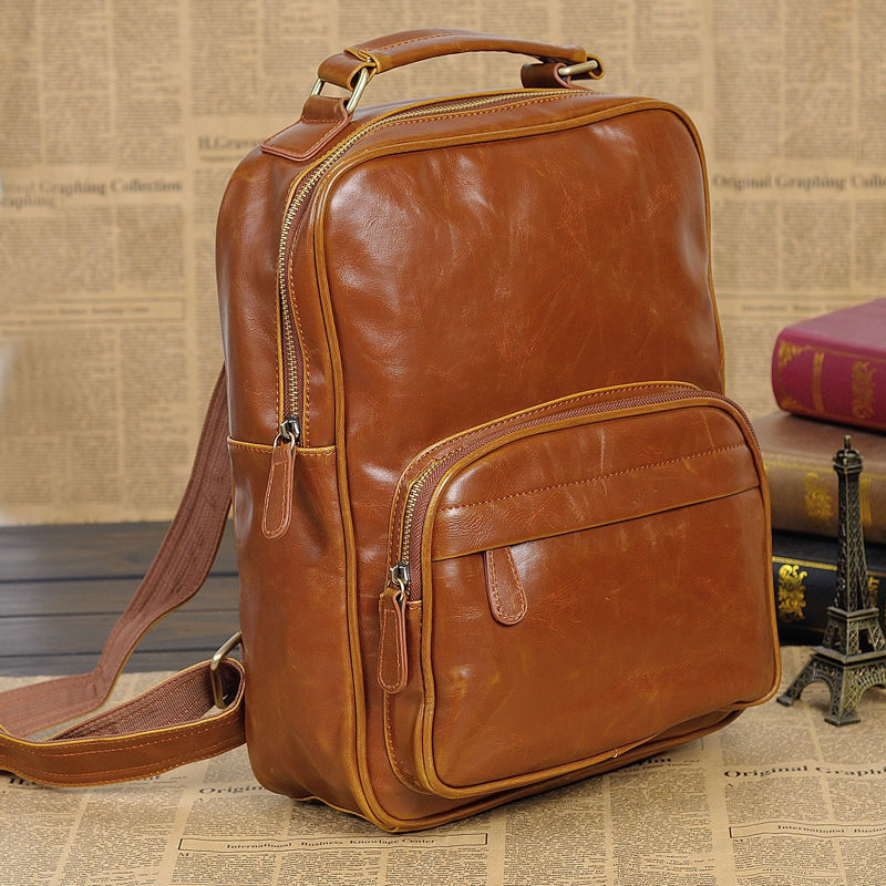 Sacs à dos unisexe pour adolescentes Vintage pu cuir sacs d'école voyage softback pour homme livraison gratuite