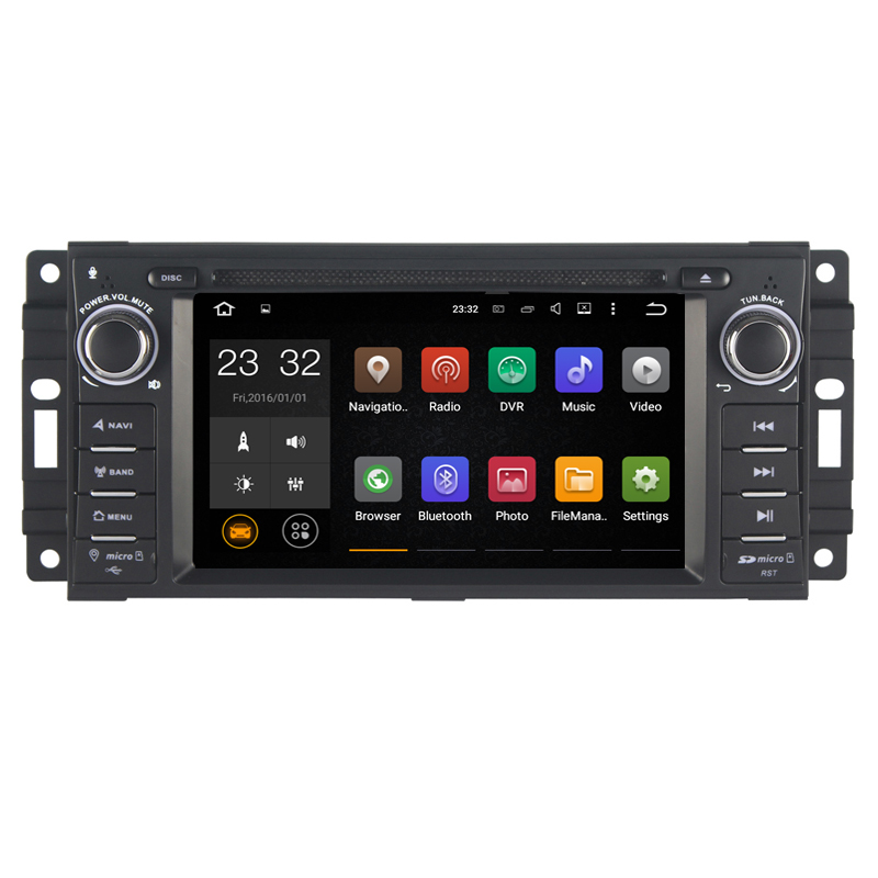 Android 8 1 2 Din 6 2 Inch Car DVD Player For  Jeep/wrangler/patriot/compass/journey RAM 2G ROM 16G WIFI GPS Navigation  Radio