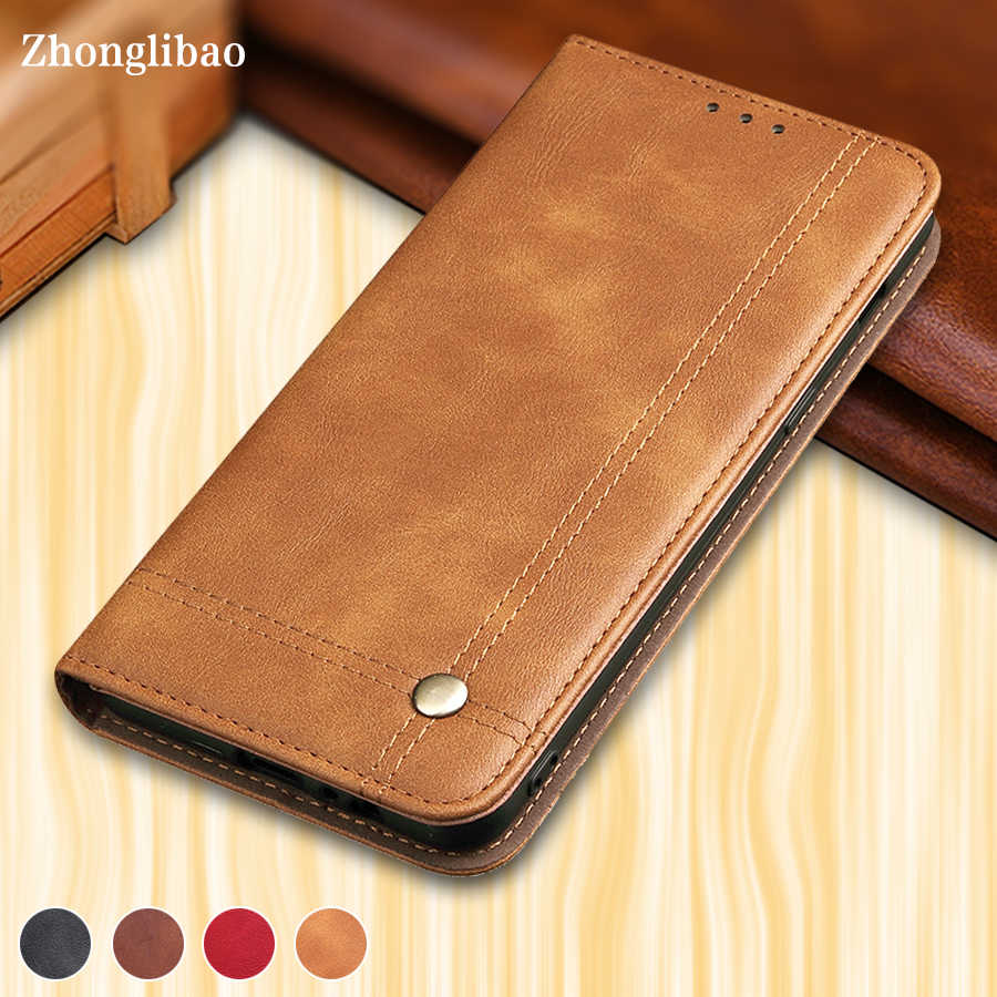 Magnetic Flip Case for Huawei P Smart Y7 Prime Y5 Prime Luxury Retro Leather Wallet Stand Card Holder Phone Cover Custoda Couro