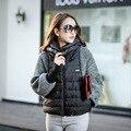 Europe fashion winter jacket women 2015 new brand women jacket knitted batwing sleeve short duck down jacket women DX668