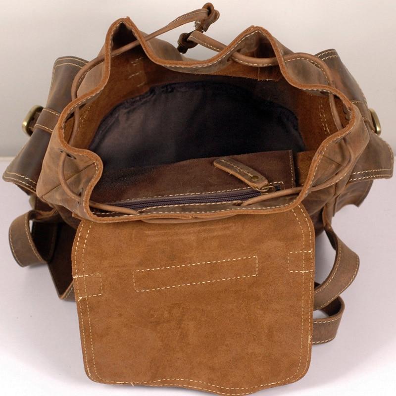 Vintage Casual Bolsa Männer Tasche Coffee Horse Rucksack Multi Designer Handgemachte Echtes Crazy Esmusssein Leder Daypack HO0W0P