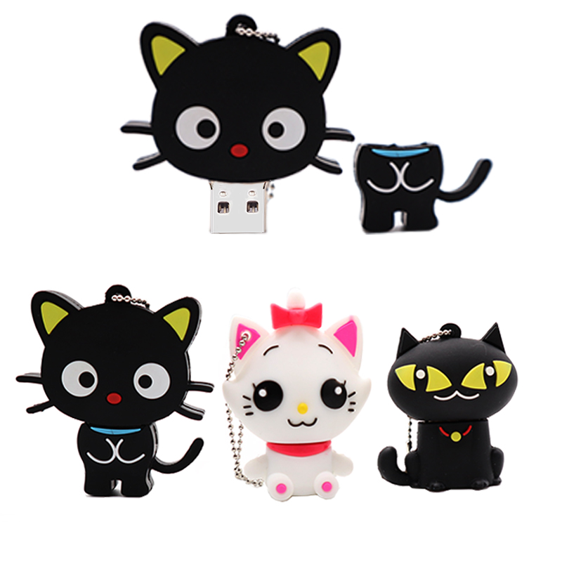 Wholesale Cartoon Cats Pen Drive Real Capacity Usb Flash Drive 128GB Memory Stick Pendrive 4GB 8GB 16GB 32GB 64GB Usb Stick
