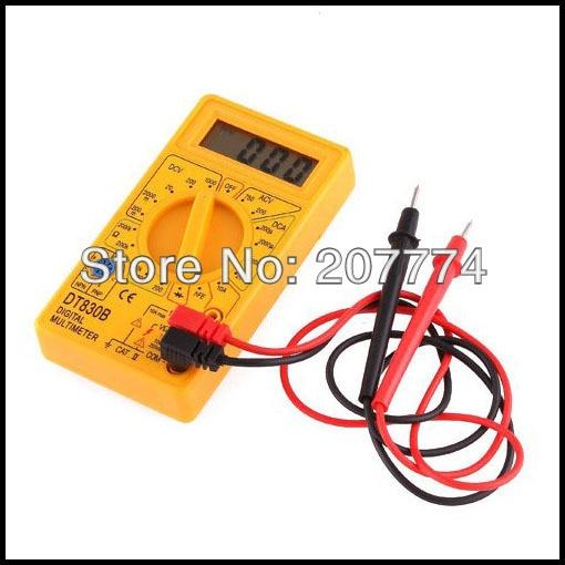 AC/DC Ammeter Voltmeter Ohm Tester Meter Professional Digital Multimeter Pocket Digital Multimeter DT830B