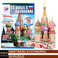 Personalized Jigsaw DIY Saint Basil's Cathedral (Russia) Juguetes Puzles Kids Toys Educational