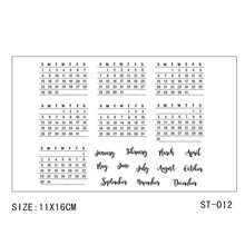 Zhuoang Calendar date transparent Clear Stamps