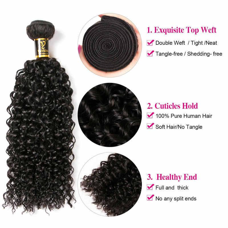 Yavida волосы бразильские кудрявые пучки вьющихся волос натуральный цвет 100% бразильские кудри пучки не Реми волосы для наращивания 1/3 шт