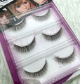 3pairs/lot 3D-19 brown mix black color  3D false eyelashes 100% Handmade transparent stalk faux mink clear band silk lashes