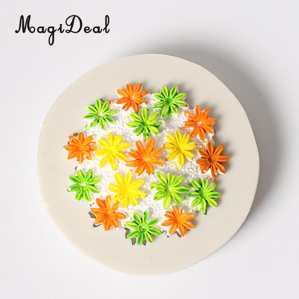 3D Chrysanthemum Craft Dessert Mousse Cake Mould Cooking Decoration Sugarcraft,Premium F ...