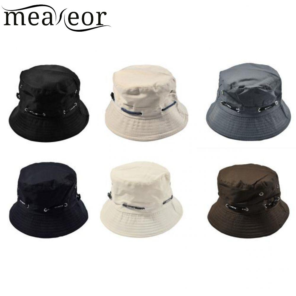 f831df1d29c Meaneor Solid Girls Caps Fashion Men Women Unisex Cotton Bucket Hat Double  Side Fishing Boonie Bush Cap Visor Sun High Quality-in Bucket Hats from  Apparel ...