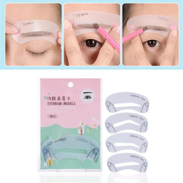 Thrush Card Threading Word Eyebrow Makeup Tools Threading Artifact Thrush Aid Card Eyebrows Mold 1