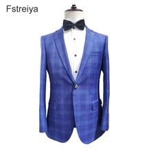 Custom made mens suit in Mess tailor - wool suits customized groom wedding 2019 slim fit men clothes regular