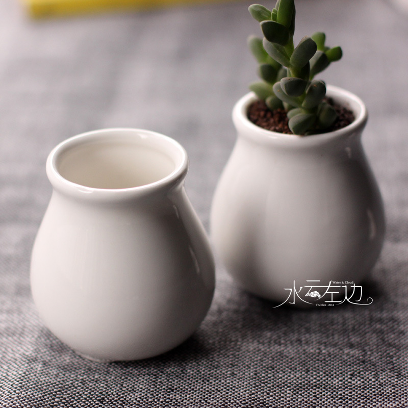 Vase Container Flowerpots Bonsai-Pot Square Ceramic Juicy-Plants Garden Wedding Small title=