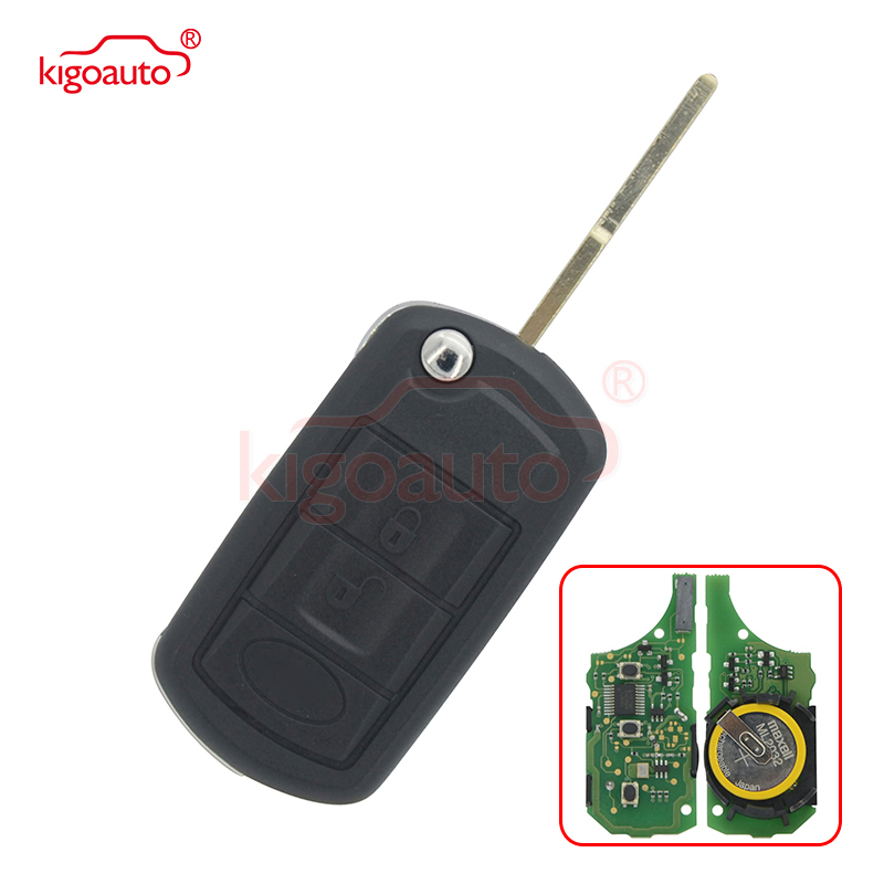 Flip key 3button 434Mhz HU101 key blade with ID46 chip for Landrover Range Rover Sport LR3 2005 2006 2007 2008 2009 kigoauto