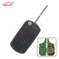 Flip key 3button 434Mhz HU101 key blade with ID46 chip for Landrover Range Rover Sport LR3 2005 2006 2007 2008 2009 kigoauto