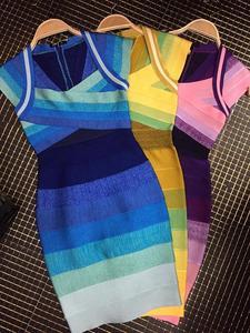 Бандажное платье HL с коротким рукавом и квадратным вырезом, элегантное облегающее платье, 4 цвета