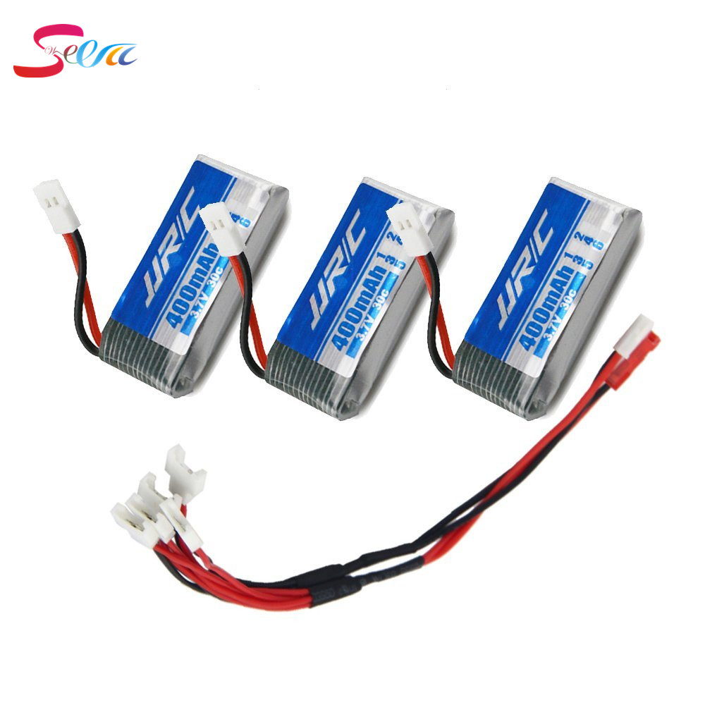 3Pcs * JJRC H31 400mAh 3.7V Lipo Battery + 5 in 1 Battery Charger for JJRC H31 RC Quadcopter Drone 5pcs jjrc h11d h11c hq898 quadcopter drone rc lipo battery 3 7v 1100mah and charger plug cable