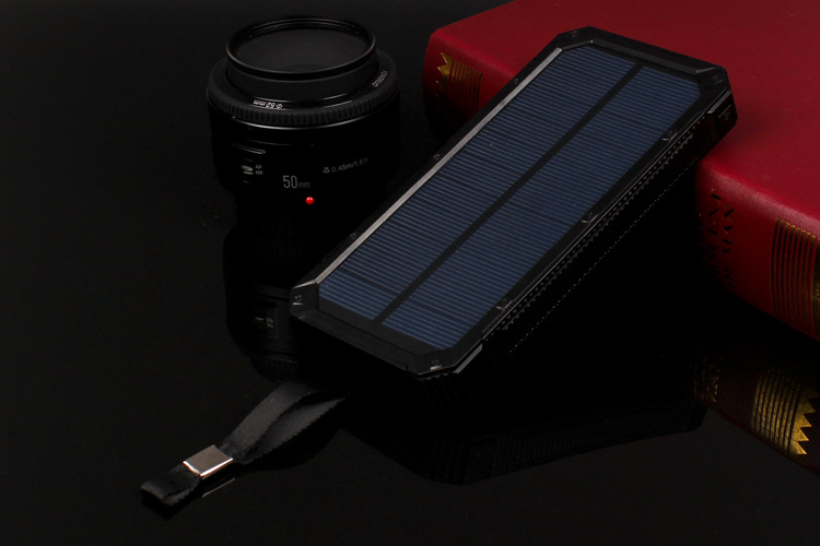 Solar high-capacity mobile power, mobile charging treasure 20,000 mA portable mobile power for a variety of smart phone tablet