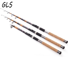2.1M 2.4M 2.7M 3.0M 3.6M GW Fishing Pole Spinning Rod Sea Fishing Tackle Carbon Telescopic Fishing Rods Sea Fishing Rod недорого