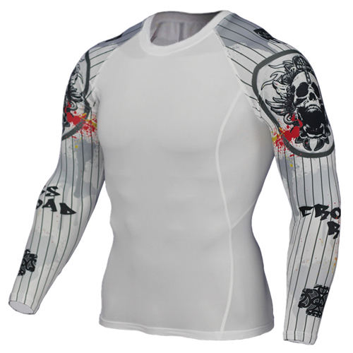 Wolf 3D Printed tshirt Compression Tights Men Fitness Running Shirt Breathable Long Sleeve Sport Rashgard Gym Cycling Clothing 5