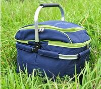 Outdoor Picnic Basket Portable Ice Pack Picnic Basket Insulation Large Folding Picnic Bag Cooler Box Food
