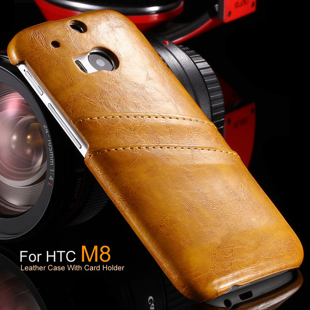 Business Style Luxury Leather Case For htc one M8 with Wallet Card Holder Cover For HTC M8