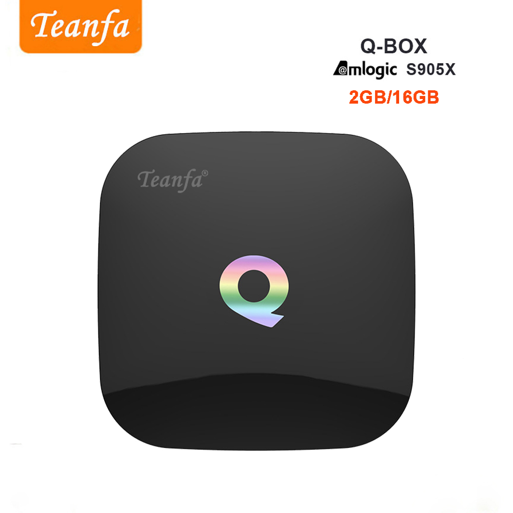 Teanfa Q BOX Set-top box 2G 16G Android 6.0 Smart TV Box S905X Quad - Accueil audio et vidéo - Photo 1
