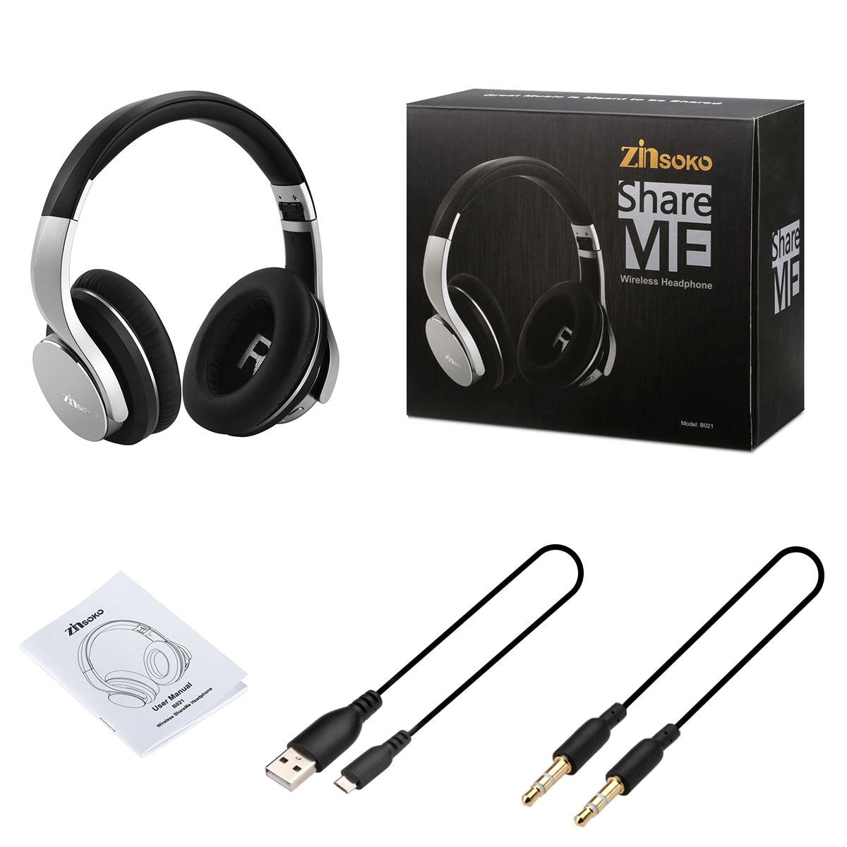 Zinsoko B021 Condividere Me Cuffia Senza Fili di Bluetooth Potenza Dei  Bassi Ad alta Fedeltà Audio Aux Port Per Il Telefono Tablet PC in Zinsoko  B021 ... 8d21eea8b2ba
