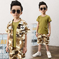 2016 New Korean Military Suit For Children The Summer Boy Three Sets Clothing Kids Clothes Boys Baby