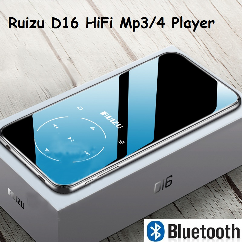 RUIZU Mp3-Player Fm-Radio D16 Music Built-In-Speaker HIFI Bluetooth Metal E-Book New title=