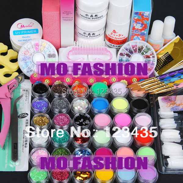Free shipping 2013 new hot sale Acrylic Powder Liquid KITS UV NAIL ART TIP Set A004