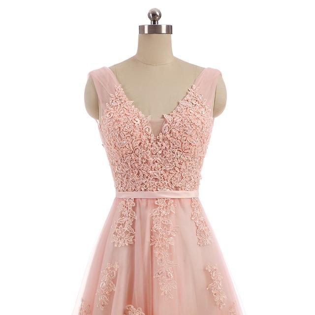 Comprar ahora WeiYin encaje Rosa Vestido De noche tren De barrido ...