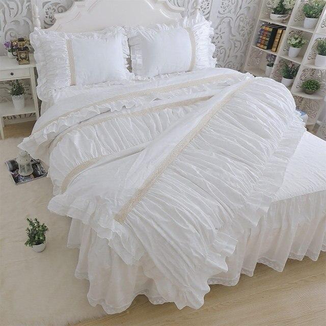 Romantische Bettwäsche Sets Rüsche Twin Voll Königin König