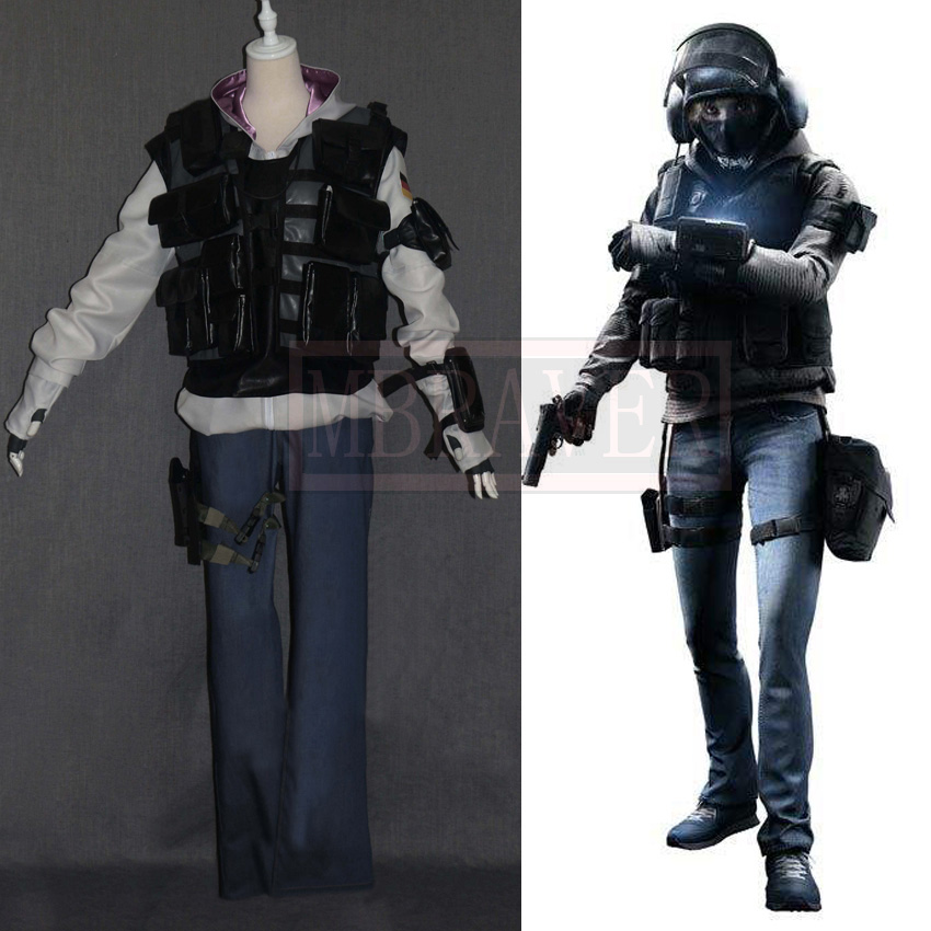 Tom Clancy's Rainbow Six Siege IQ Monika Weiss Хэллоуин униформа наряд косплей костюм Индивидуальный заказ Бесплатная доставка