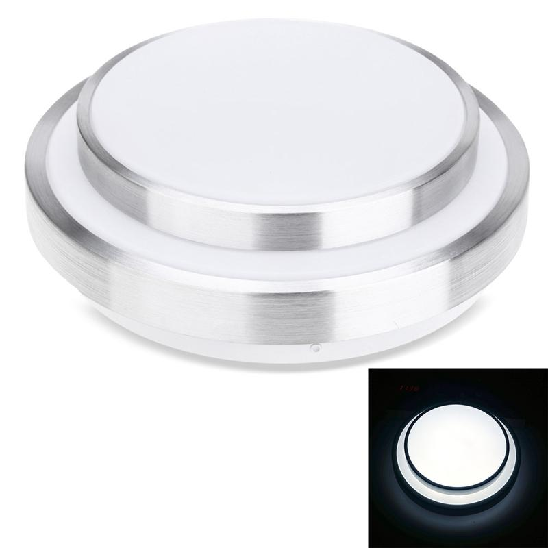 12W LED Natural White Ceiling Light Voice Control Sensor Ceiling Lamp AC 220V 12w 3500k 1050 lumen 12 led warm white light ceiling down lamp ac 100 245v