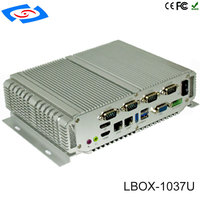 Hot Sale Industrial Mini PC Intel Core I5 3317U Fanless Desktop 4 RS232 Linux Alloy Case Dual LAN Windows XP Rugged PC