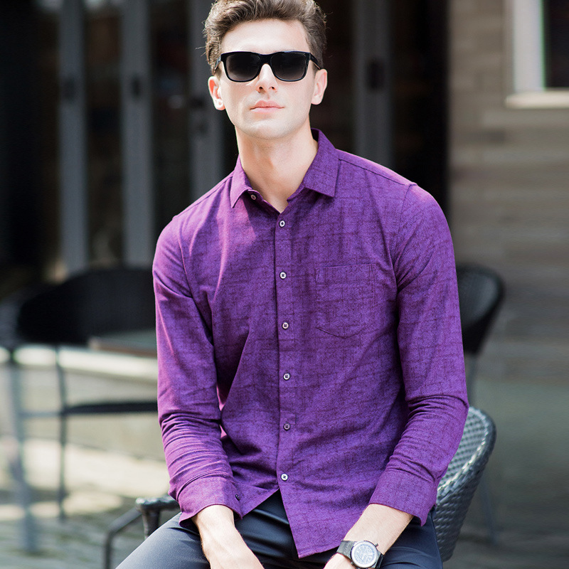 Compare Prices on Mens Purple Long Sleeve Shirt- Online Shopping ...