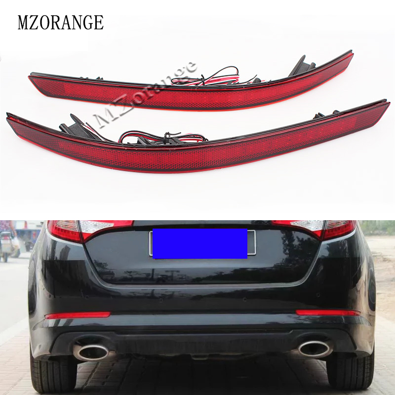 Car Accessories For Kia Optima K5 2011 2012 2013 Red Brake Tail Light LED Red Rear Bumper Reflector Lights Warning Stop Tail Fog image