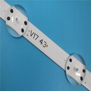 """Image 3 - Led תאורה אחורית 1 סט = 5 חתיכות סונג WE1 55V0 E74739 94V 0 43 """"V17 ART3 2867 Rev0.3 1 10 נוריות 85cm"""