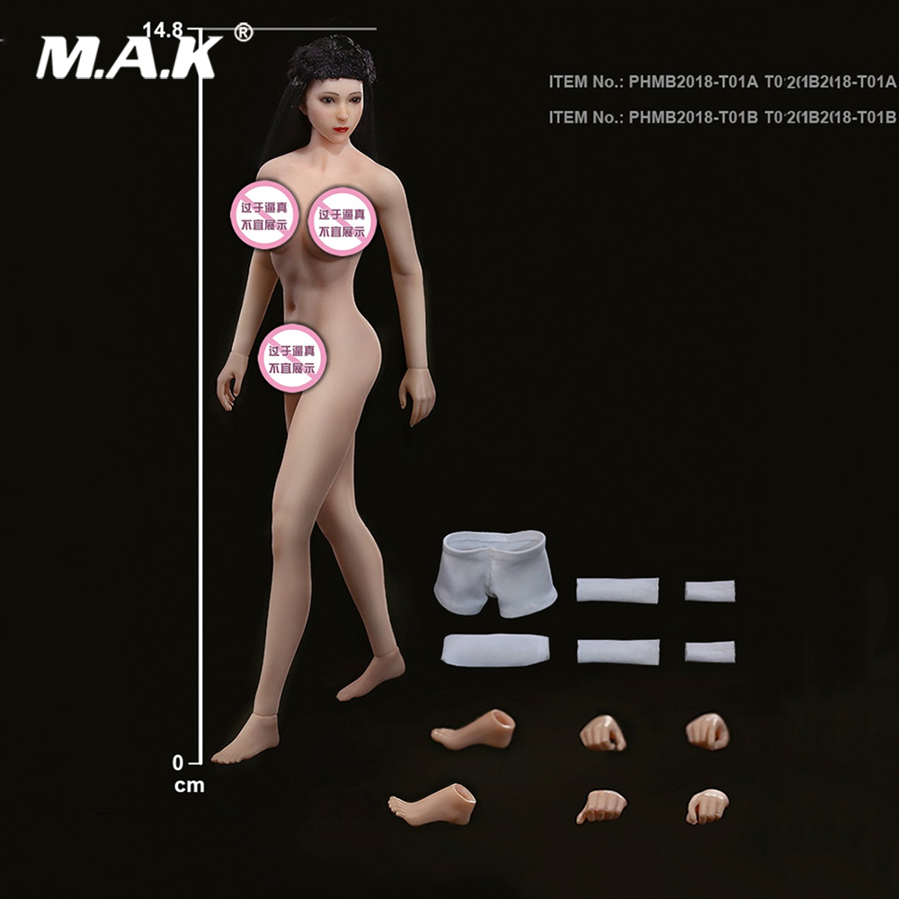 TBLeague 1 12 Scale Sexy Super Flexible Female Seamless Body Head Sculpt Doll Model Pale Suntan