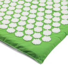 Yoga Mat Acupressure Mat With Pillow Set Back Body Massager Relieve Stress Tension Pain Relaxation Massage Mat With Carry Bag