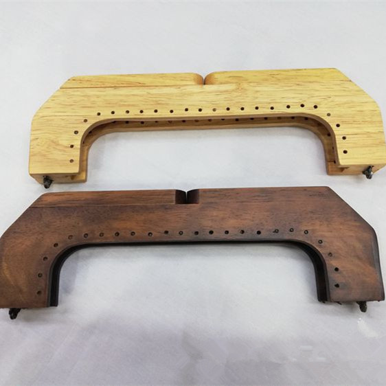 1 Piece Size 25cmX7.5 Cm Solid Wood Material Wooden Purse Frame Wallet Fashion Sewing Purse Handle Frame Obag Accessories 2019