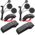 2 шт. Moto FreedConn 1000 м Мотоциклетный Шлем Bluetooth Интерком Гарнитура NFC FM + Пульт дистанционного управления + Мягкие Наушники