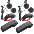 2 pcs FreedConn 1000m Motorcycle Helmet Bluetooth Intercom Moto Headset NFC FM+Remote Controller+Soft Earphone